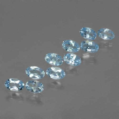 Swiss Blue Topaz Gem - 0.3ct Oval Facet (ID: 437635)