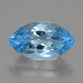 Swiss Blue Topaz Gem - 4.5ct Marquise Facet (ID: 438257)