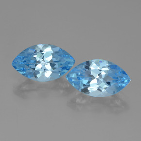 Swiss Blue Topaz Gem - 4.2ct Marquise Facet (ID: 438297)