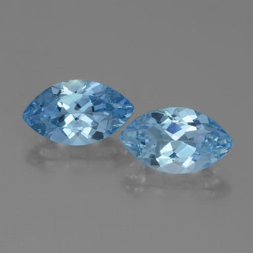 4.1ct Marquise Facet Swiss Blue Topaz Gem (ID: 438301)