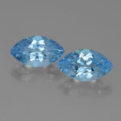 Swiss Blue Topaz Gem - 4.1ct Marquise Facet (ID: 438302)
