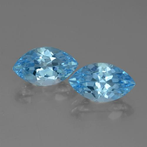 Swiss Blue Topaz Gem - 4.4ct Marquise Facet (ID: 438304)