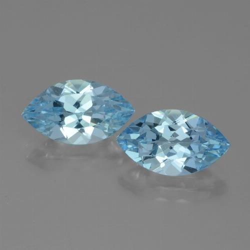 Sky Blue Topaz Gem - 4ct Marquise Facet (ID: 438305)