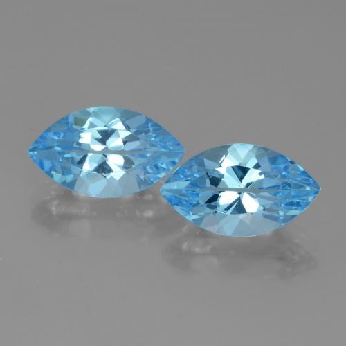 Swiss Blue Topaz Gem - 4.3ct Marquise Facet (ID: 438307)