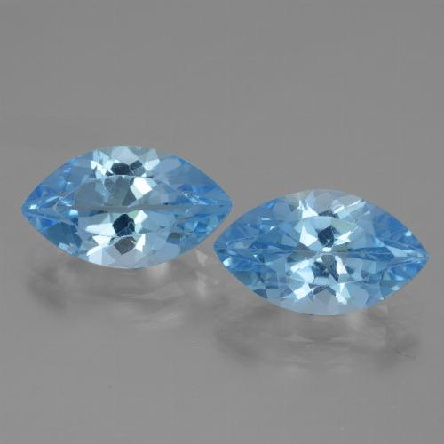Swiss Blue Topaz Gem - 4.1ct Marquise Facet (ID: 438345)