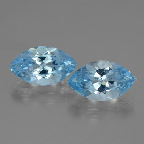 Swiss Blue Topaz Gem - 4.1ct Marquise Facet (ID: 438346)