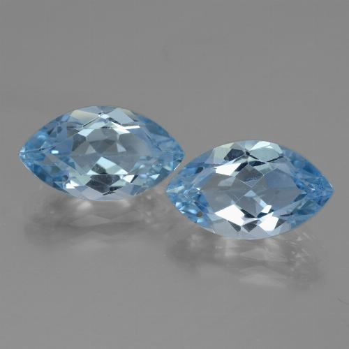 Swiss Blue Topaz Gem - 4.1ct Marquise Facet (ID: 438347)
