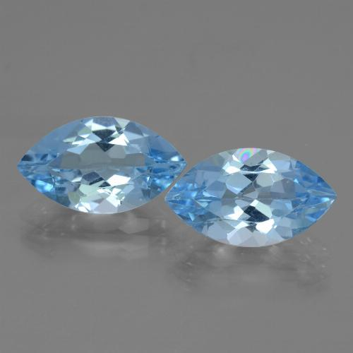 Swiss Blue Topaz Gem - 3.8ct Marquise Facet (ID: 438349)