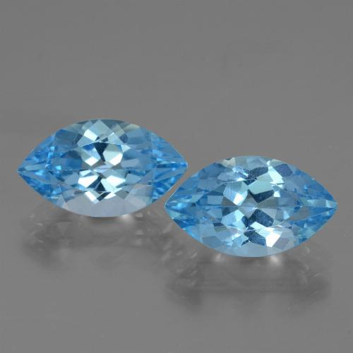 Swiss Blue Topaz Gem - 4.4ct Marquise Facet (ID: 438350)