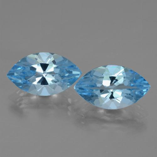Swiss Blue Topaz Gem - 4.1ct Marquise Facet (ID: 438352)