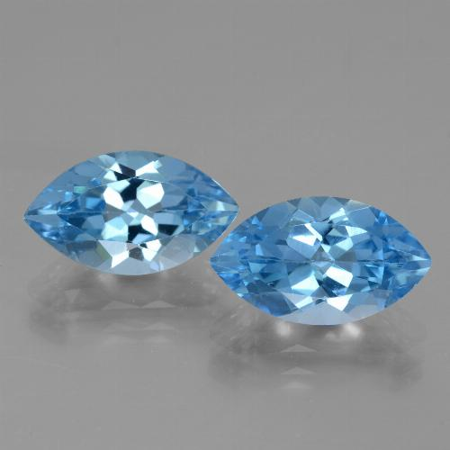 Sky Blue Topaz Gem - 4.2ct Marquise Facet (ID: 438353)