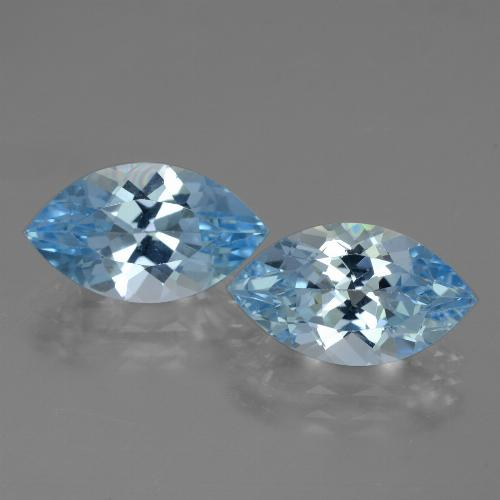 Swiss Blue Topaz Gem - 4.1ct Marquise Facet (ID: 438354)