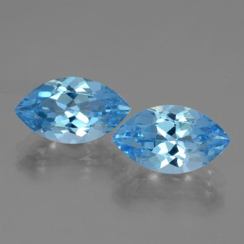 Swiss Blue Topaz Gem - 4.3ct Marquise Facet (ID: 438356)