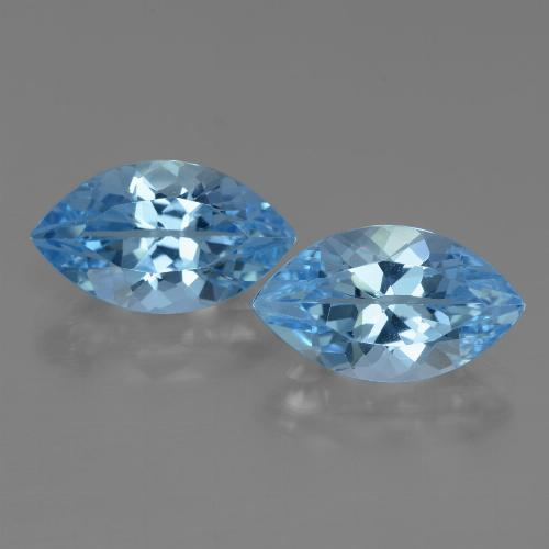 Swiss Blue Topaz Gem - 4.2ct Marquise Facet (ID: 438382)