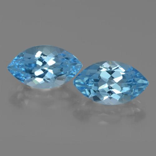 Swiss Blue Topaz Gem - 4.3ct Marquise Facet (ID: 438383)