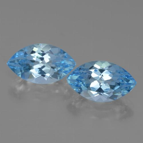 4.2ct Marquise Facet Swiss Blue Topaz Gem (ID: 438384)