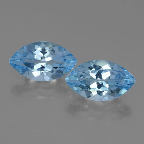 4.2ct Marquise Facet Swiss Blue Topaz Gem (ID: 438385)
