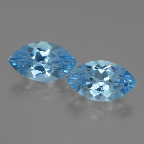 Swiss Blue Topaz Gem - 4.1ct Marquise Facet (ID: 438387)