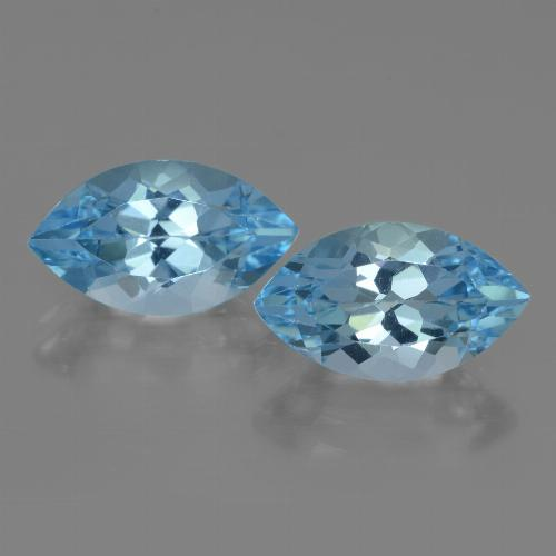 Swiss Blue Topaz Gem - 4.3ct Marquise Facet (ID: 438389)