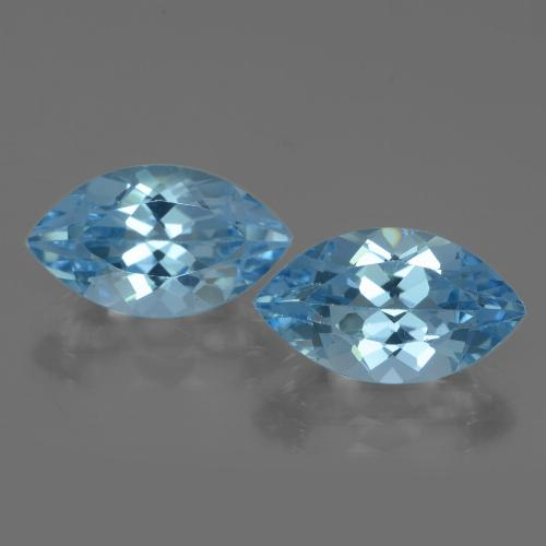 Swiss Blue Topaz Gem - 4.2ct Marquise Facet (ID: 438390)