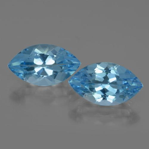 Swiss Blue Topaz Gem - 4.2ct Marquise Facet (ID: 438391)