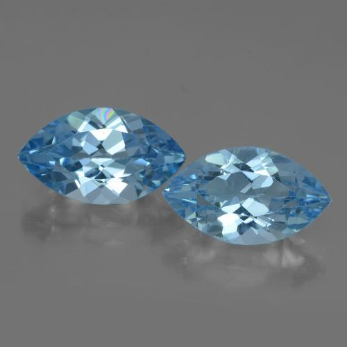 Swiss Blue Topaz Gem - 4.1ct Marquise Facet (ID: 438392)