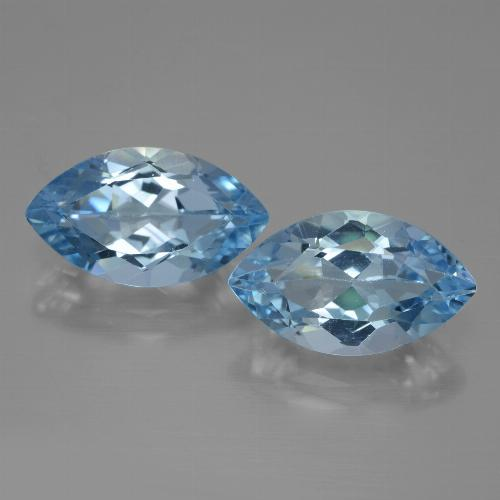 Medium Blue Topaz Gem - 4.4ct Marquise Facet (ID: 438417)