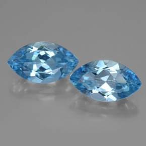 Swiss Blue Topaz Gem - 4.2ct Marquise Facet (ID: 438419)