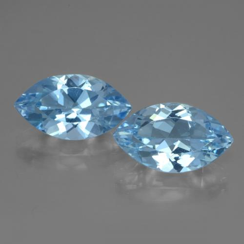 Swiss Blue Topaz Gem - 3.9ct Marquise Facet (ID: 438422)