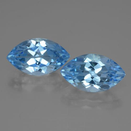 4.3ct Marquise Facet Swiss Blue Topaz Gem (ID: 438423)