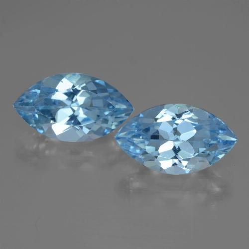 Swiss Blue Topaz Gem - 4.1ct Marquise Facet (ID: 438424)