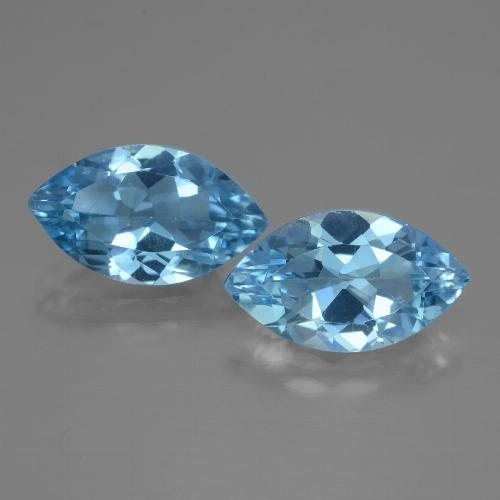 Swiss Blue Topaz Gem - 3.6ct Marquise Facet (ID: 438425)