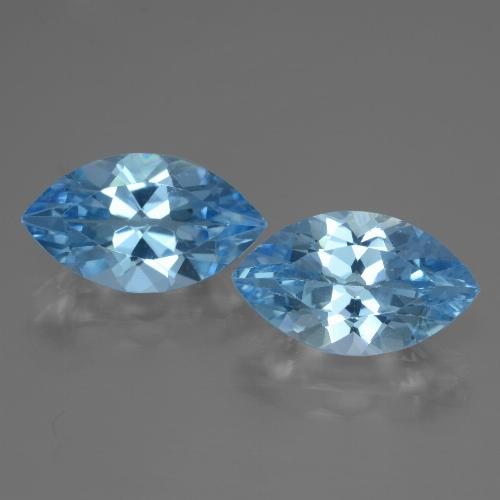 Swiss Blue Topaz Gem - 4ct Marquise Facet (ID: 438426)