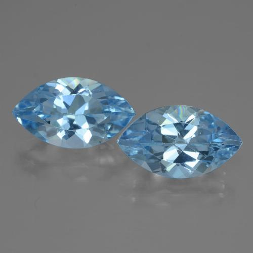 Swiss Blue Topaz Gem - 4.2ct Marquise Facet (ID: 438427)