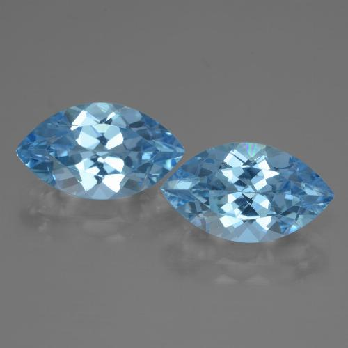 4.2ct Marquise Facet Swiss Blue Topaz Gem (ID: 438428)