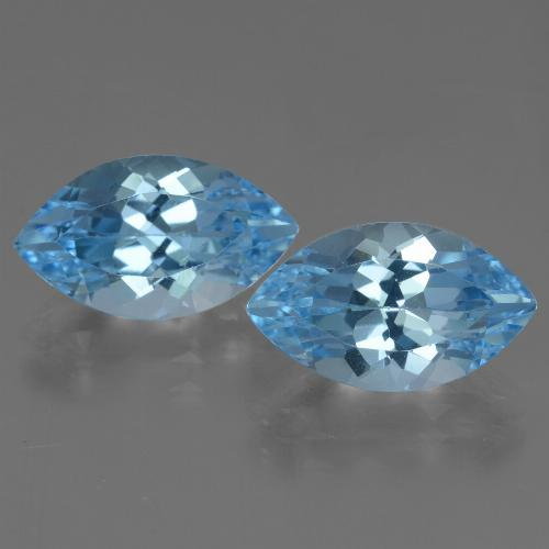 Baby Blue Topaz Gem - 4.4ct Marquise Facet (ID: 438477)
