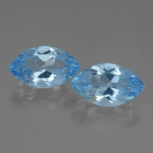 Swiss Blue Topaz Gem - 4ct Marquise Facet (ID: 438480)
