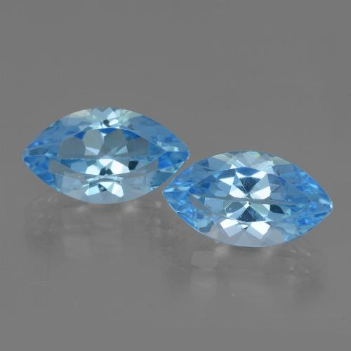 Swiss Blue Topaz Gem - 4.2ct Marquise Facet (ID: 438481)