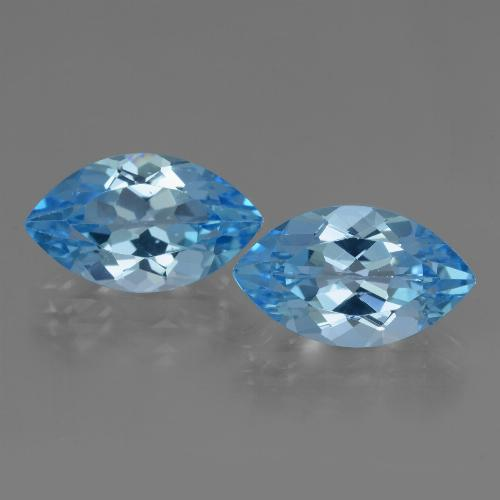 Deep Swiss Blue Topaz Gem - 4.1ct Marquise Facet (ID: 438482)