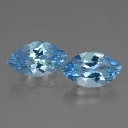Swiss Blue Topaz Gem - 3.9ct Marquise Facet (ID: 438483)