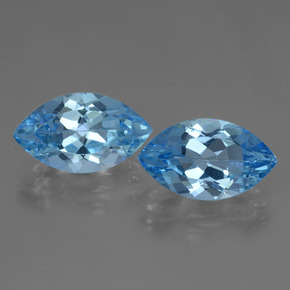 Swiss Blue Topaz Gem - 4.2ct Marquise Facet (ID: 438484)