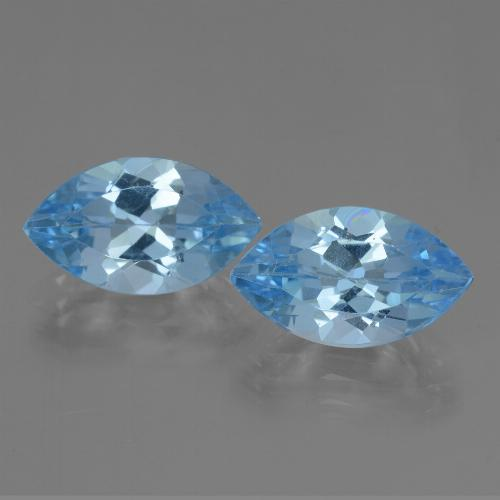 Light Cyan Blue Topaz Gem - 4ct Marquise Facet (ID: 438486)
