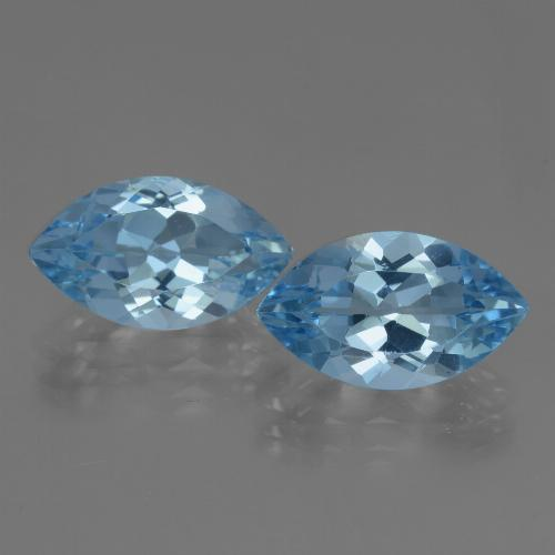 Swiss Blue Topaz Gem - 4.1ct Marquise Facet (ID: 438487)