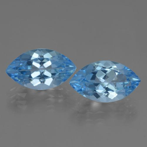 Swiss Blue Topaz Gem - 4.1ct Marquise Facet (ID: 438488)
