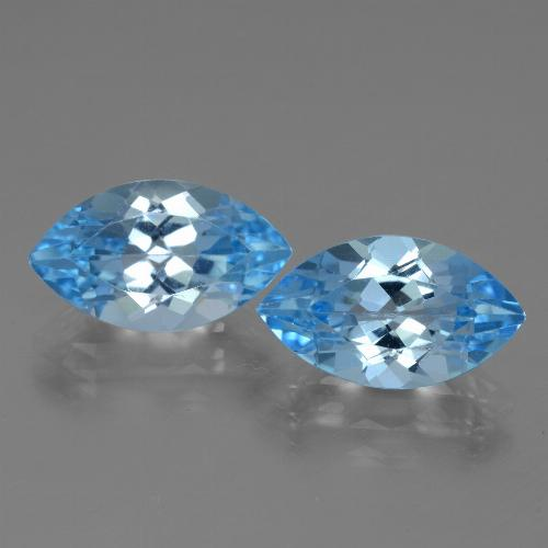 4.3ct Marquise Facet Swiss Blue Topaz Gem (ID: 438525)