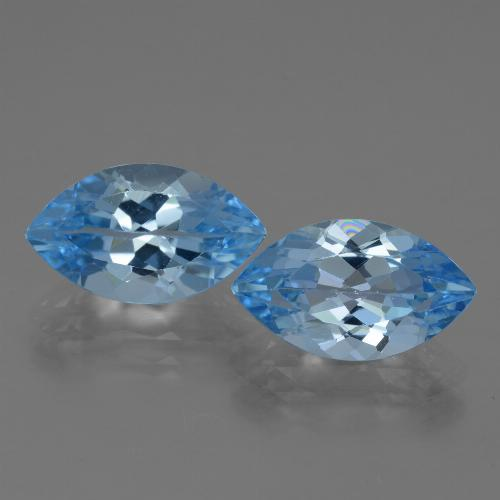 4.3ct Marquise Facet Swiss Blue Topaz Gem (ID: 438526)