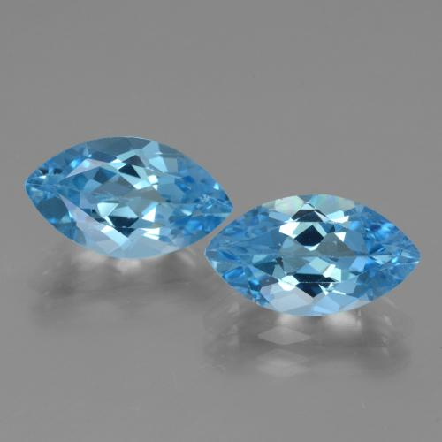 4.1ct Marquise Facet Swiss Blue Topaz Gem (ID: 438527)