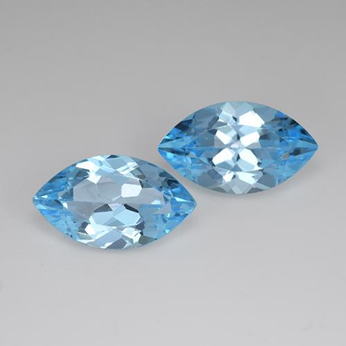 Swiss Blue Topaz Gem - 4.1ct Marquise Facet (ID: 438528)