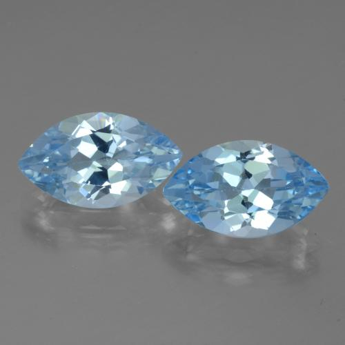 Swiss Blue Topaz Gem - 4.2ct Marquise Facet (ID: 438531)