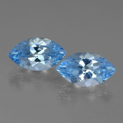Baby Blue Topaz Gem - 4.2ct Marquise Facet (ID: 438533)